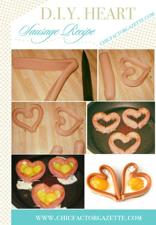 DIY Heart Sausage Egg Breakfast Tutorial