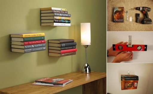 DIY Invisible Bookshelf... You Can Be A Magician!