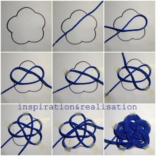 DIY Nautical Nylon Cord Knot Coasters Tutorial 1