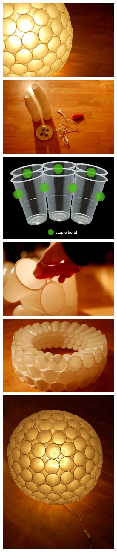 DIY Plastic Cup Lamp Tutorial 2