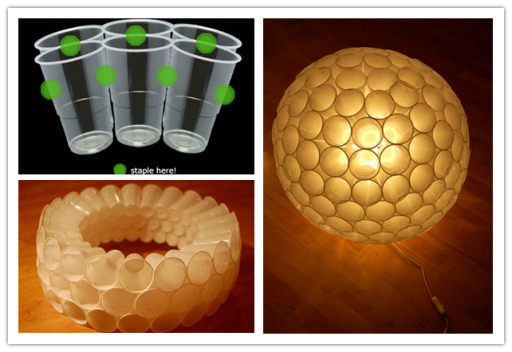 DIY Plastic Cup Lamp Tutorial