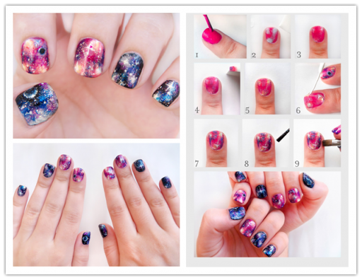 DIY Pretty Galaxy Nails Tutorial