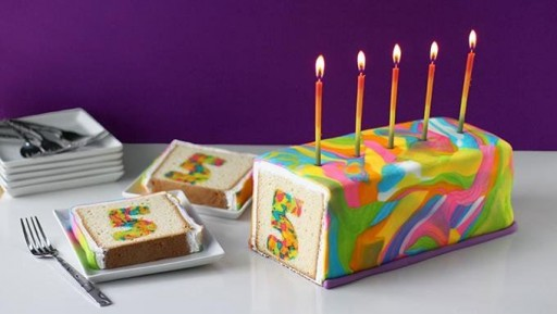 DIY Rainbow Tie Dye Surprise Cake Tutorial