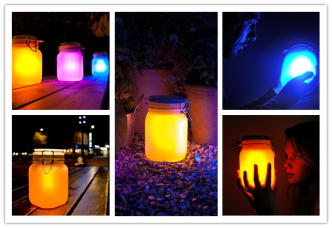 How to make multi-colored solar light jars | gardening | pinterest.