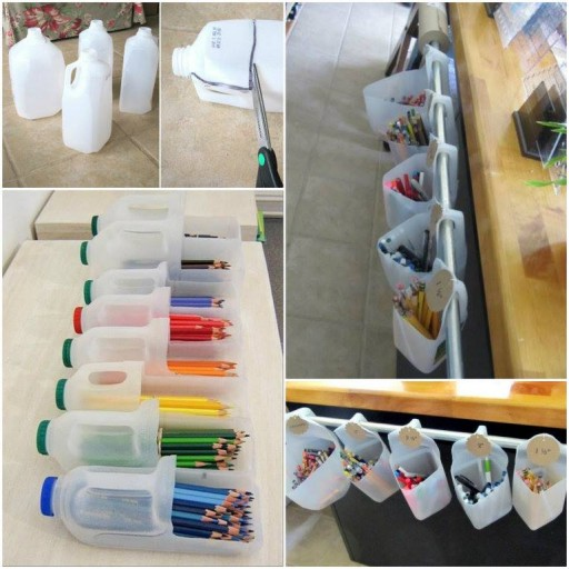 DIY Storage With Recycled Milk Cartons