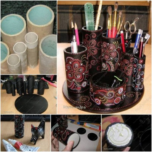 Craft Ideas For Your Desk: 10 Wonderful Toilet Paper Roll Crafts To Do With Kids