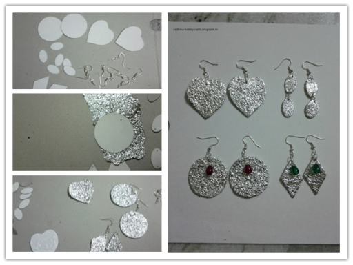 Easy DIY Aluminium Foil Earrings Tutorial