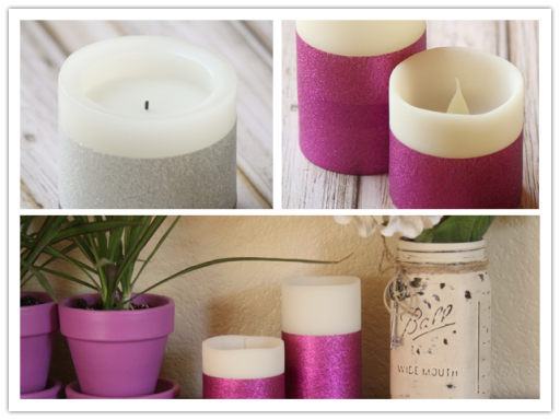 Easy DIY Glitter Dipped Duck Tape Candle Tutorial