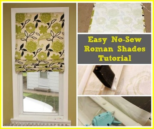 Easy DIY No Sew Roman Shades Tutorial
