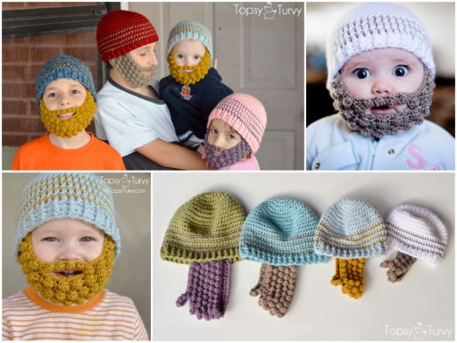 Free Crochet Bobble Beard Pattern