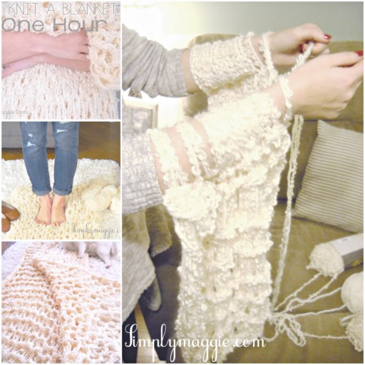 How To Arm Knit A Blanket In Just One Hour