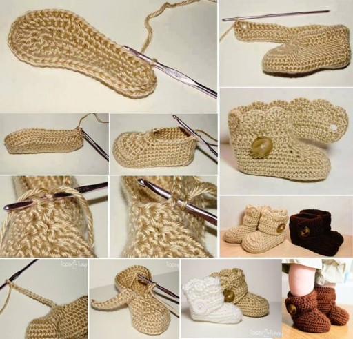 How To Crochet Lovely Baby Booties