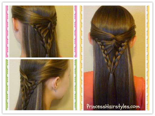 How To Do Half Up Hairstyle - Arrowhead Braid Tutorial