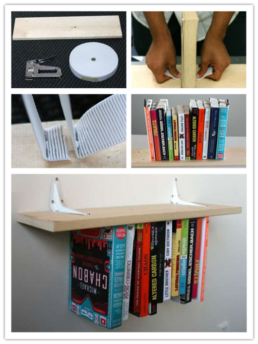 How To Make A DIY Unside Down Bookshelf (Inverted Bookshelf)