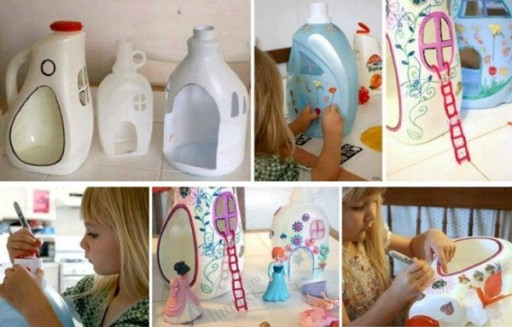 How To Make Cute DIY Doll Houses From Plastic Containers 2