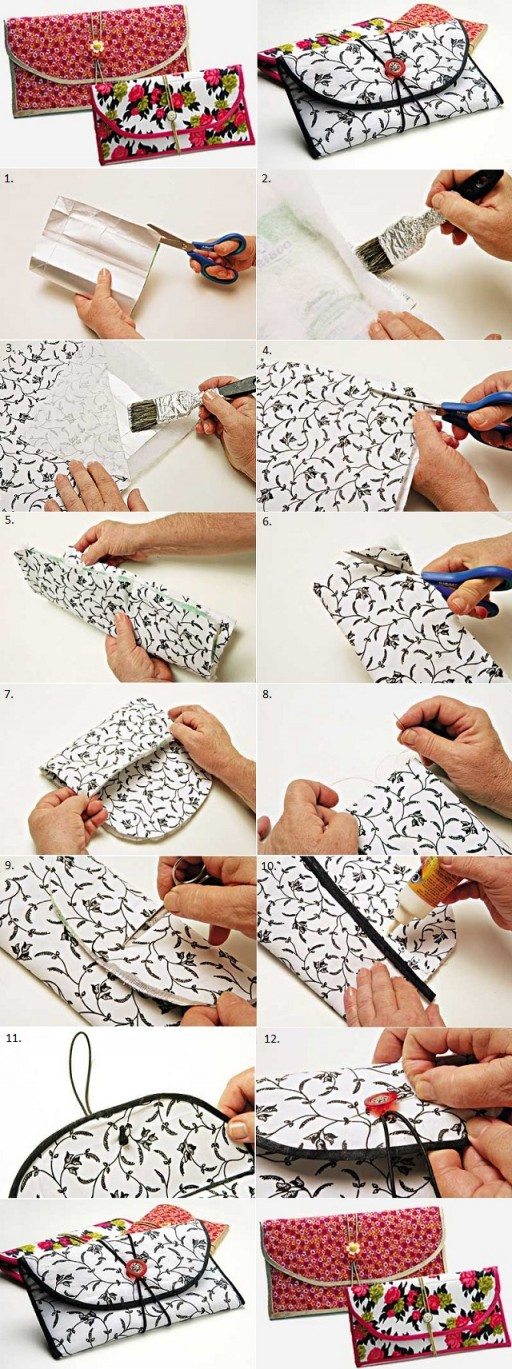 How To Make DIY Chic Wallet From Milk Carton Box 2