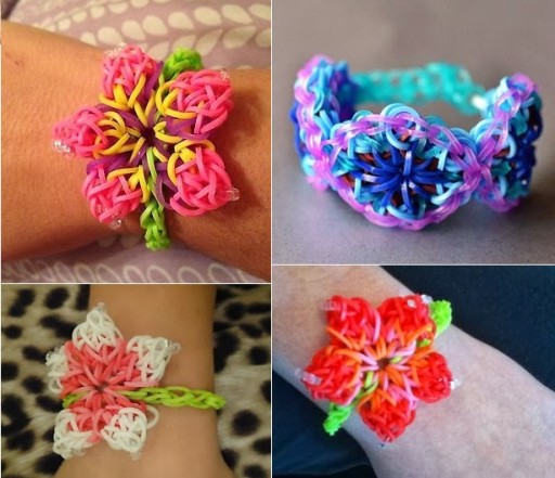 How To Make DIY Hibiscus Flower Rainbow Loom Bracelet