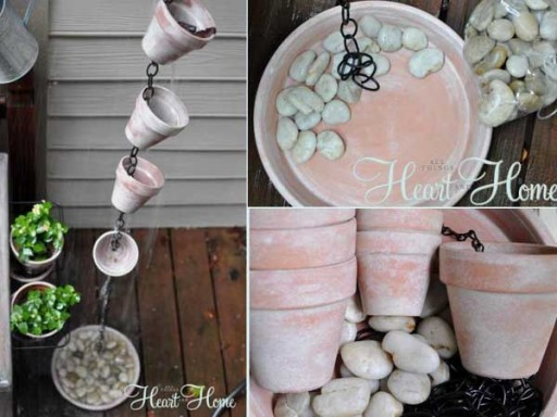 How To Make DIY Terra Cotta Rain Chain