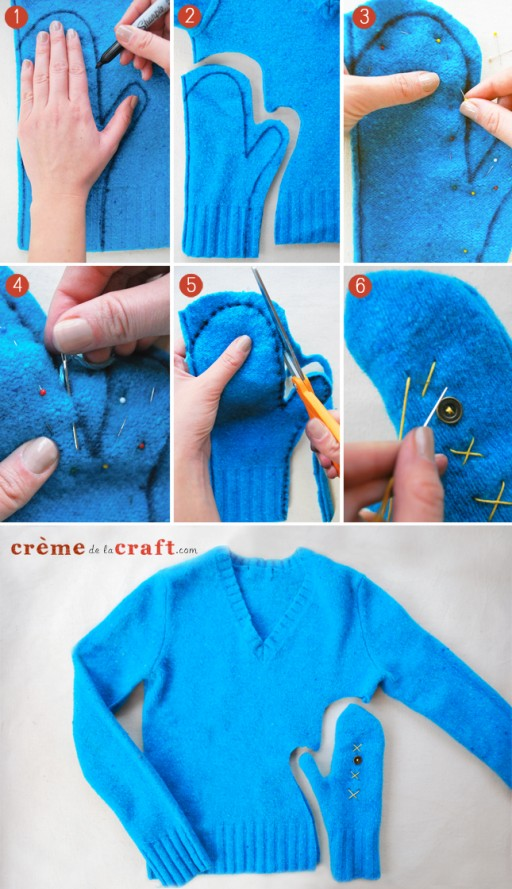 How To Make Mittens Out Of Old Sweaters 2