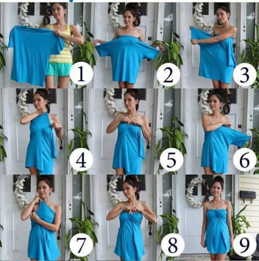 How To Turn A Men's Tee Shirt Into A Cute Dress