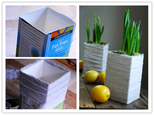 How To Turn Milk Carton Into Beautiful Planters 2
