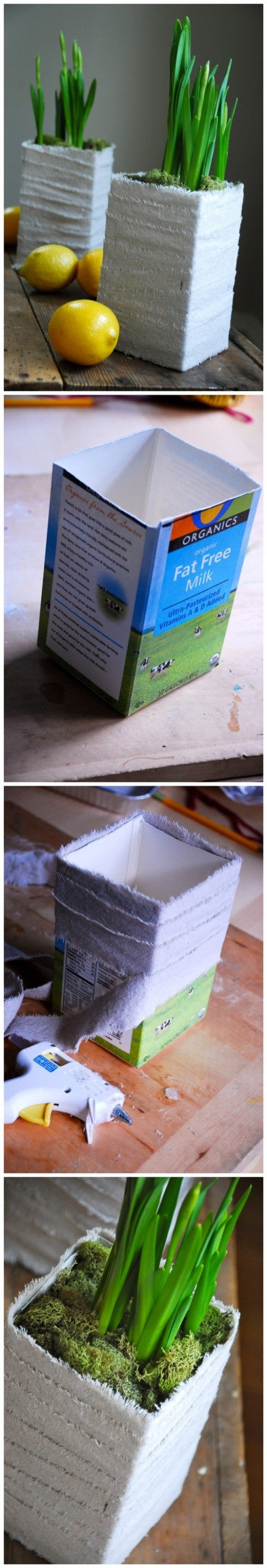 How To Turn Milk Carton Into Beautiful Planters