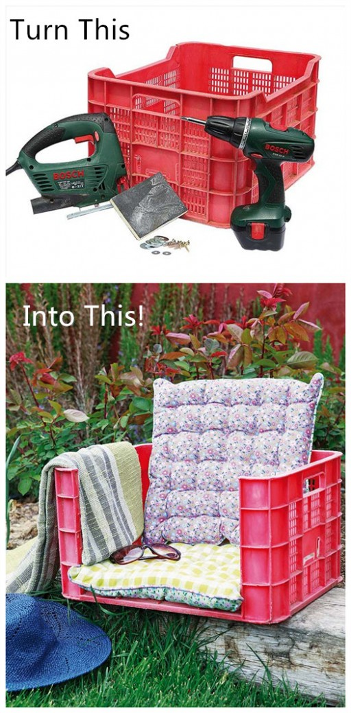 How To Upcycle A Plastic Fruit Crate Into A Garden Armchair 2