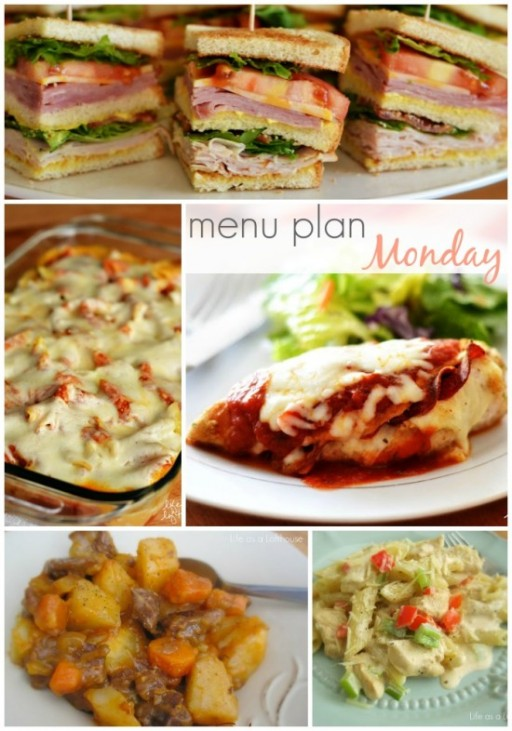 Menu Plan For The Week