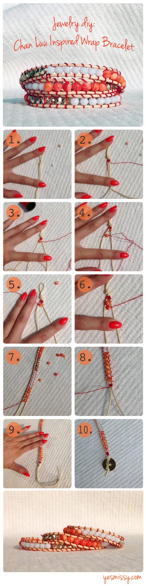 Pretty DIY Chan Luu Bracelet Tutorial