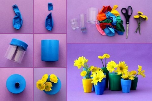 Simple & Pretty DIY Ballon Bud Vases Tutotiral