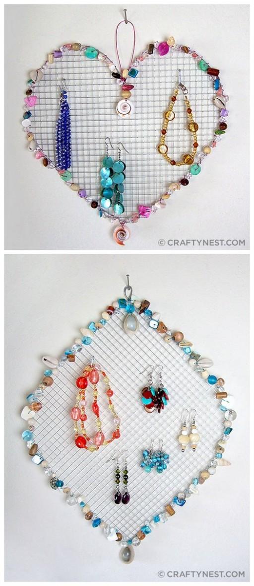 Wire Mesh Bead Jewelry Holders DIY Tutorial 2