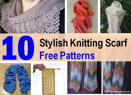 10 Stylish Free Knitting Scarf Patterns