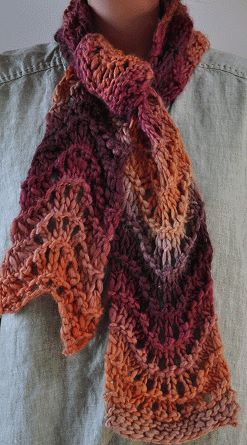 10 Stylish Free Knitting Scarf Patterns 9