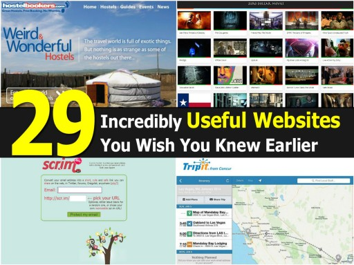 29 Incredibly Useful Websites You Wish To Have Known Earlier