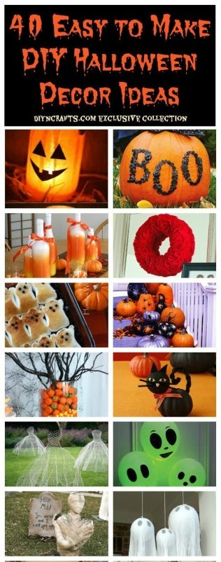 40 Easy DIY Halloween Decoration Ideas
