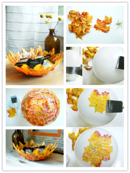 Autumn Leaf Bowl DIY Tutorial 2