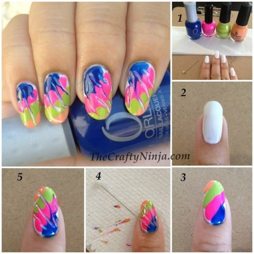 Beautiful DIY Nail Art Using A Needle