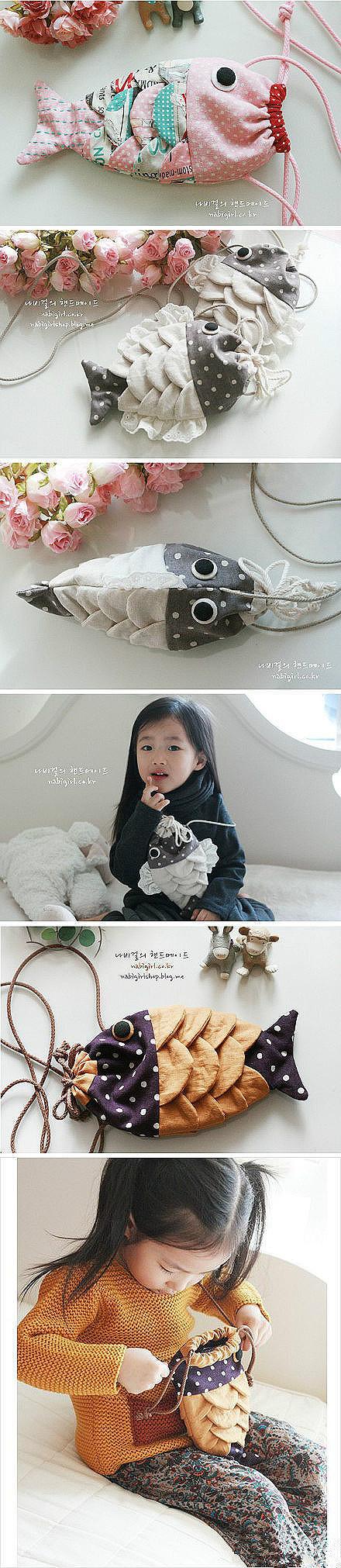Cute DIY Drawstring Fish Bag 2