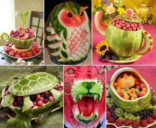 Cute Watermelon Carving Art