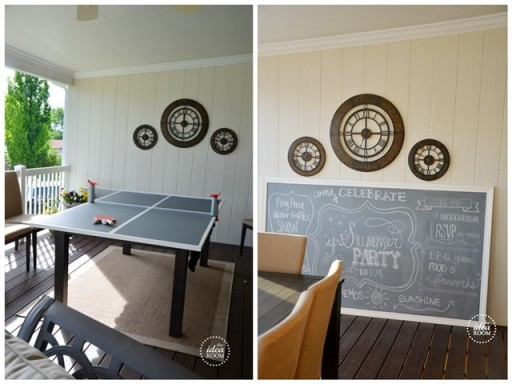 Diy chalkboard ping pong table instructions diy tag - How much space for a ping pong table ...