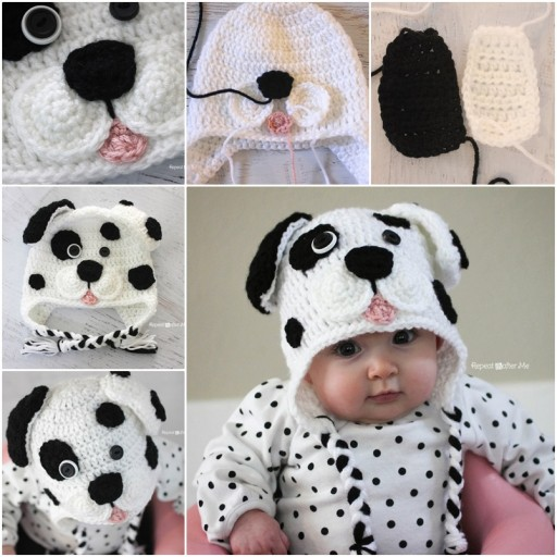 DIY Crochet Dalmatian Dog Free Pattern