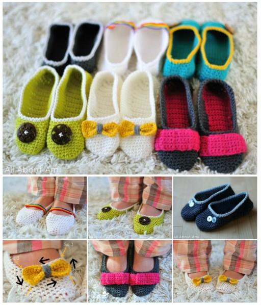 DIY Crochet Slippers Free Pattern