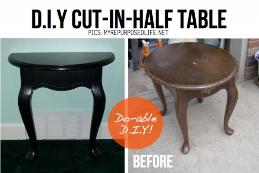 DIY Cut It In Half Beside Table