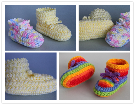 Crochet High Top Booties Free Pattern : Baby Shoes Free Knit Pattern DIY Tag