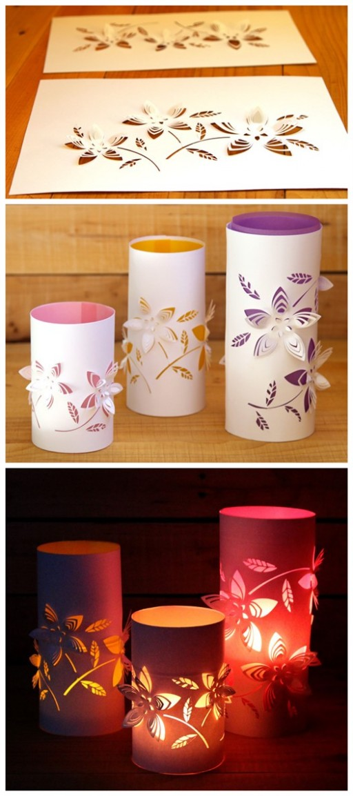 DIY Dimensional Paper Lanterns Tutorial 2