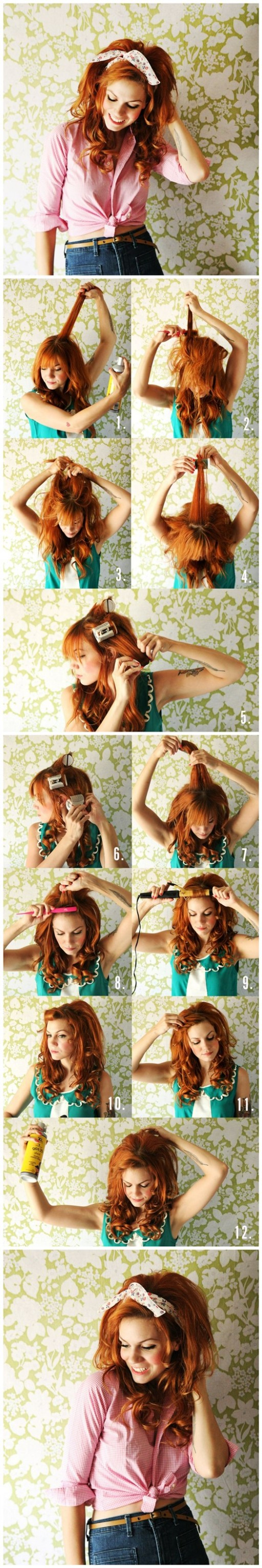 DIY Dolly Inspired Hair Tutorial 2