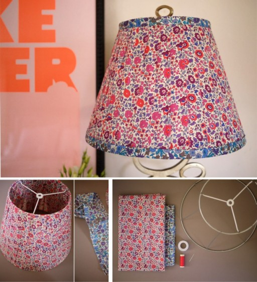 DIY Fabric Floral Lampshade Tutorial