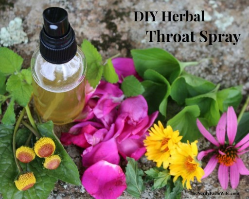 DIY Herbal Honey Sore Throat Spray Recipe