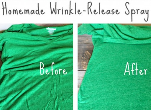 DIY Homemade Wrinkle Release Spray Instructions
