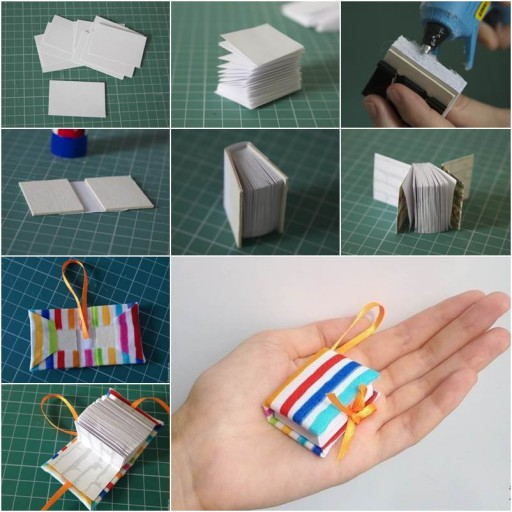 DIY Mini Diary Book Keychain Tutorial